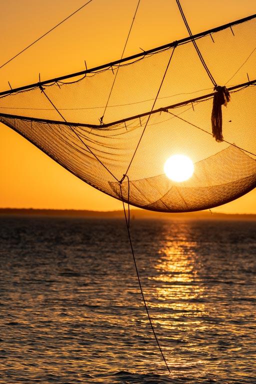 coucher de soleil à Meschers sur Gironde