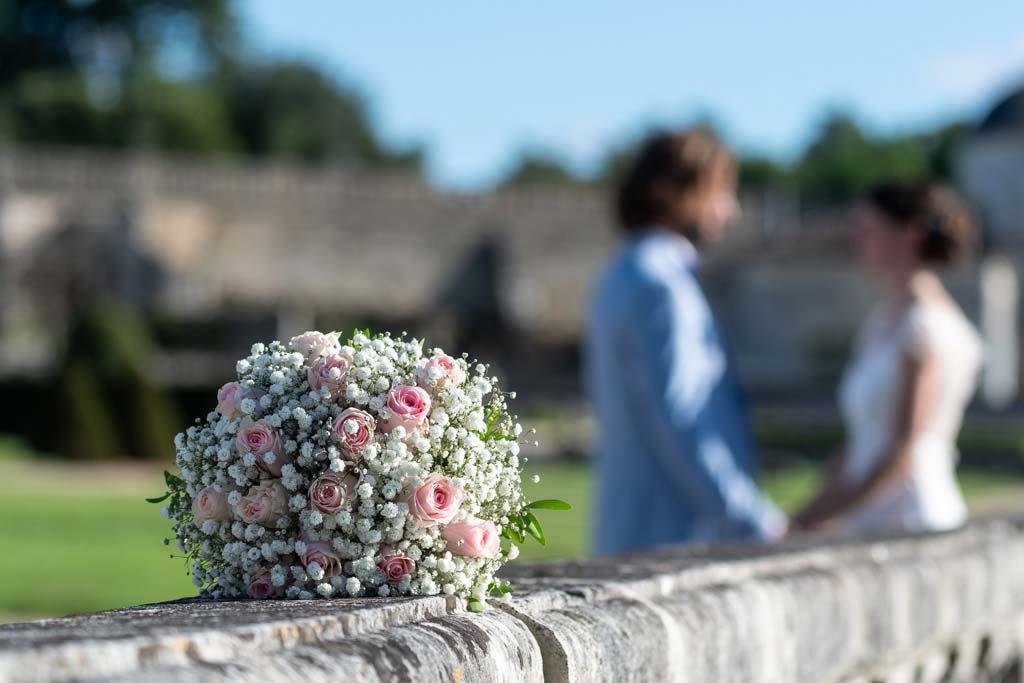 mariage au chateau de la Roche Courbon